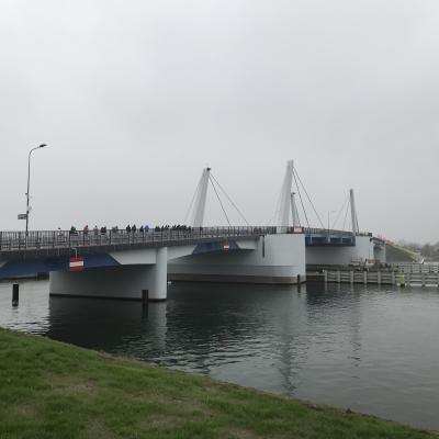 Nowy most w Sobieszewie w dniu otwarcia - 10.11.2018