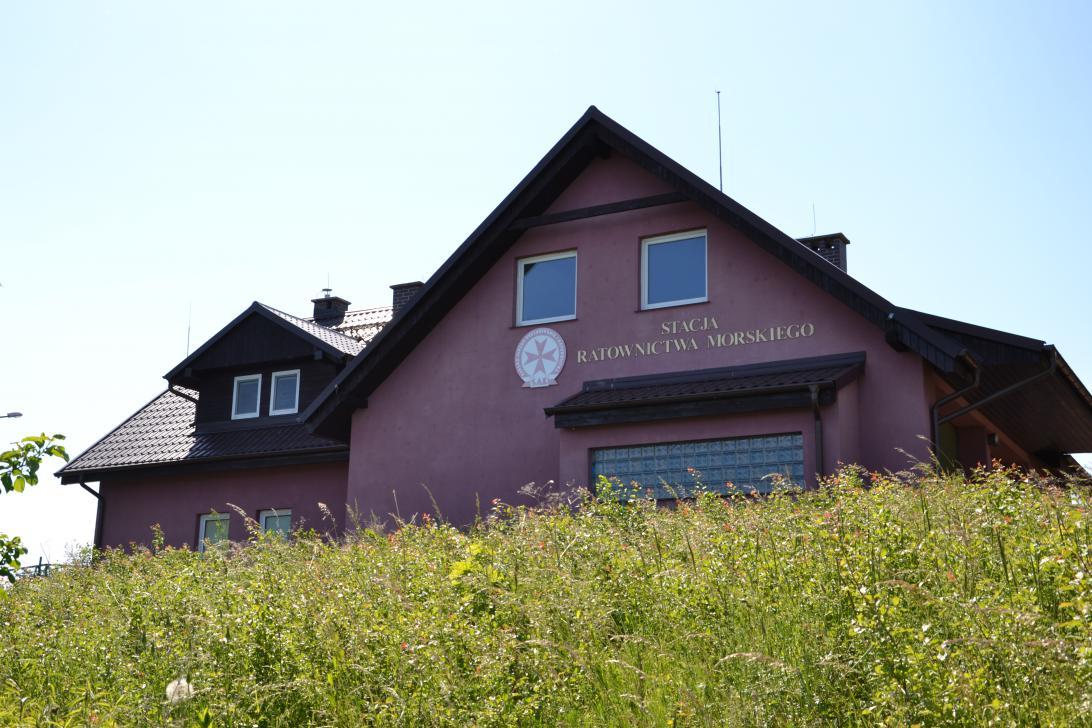 Stacja ratownictwa w Świbnie - widok od strony Wisły Przekop