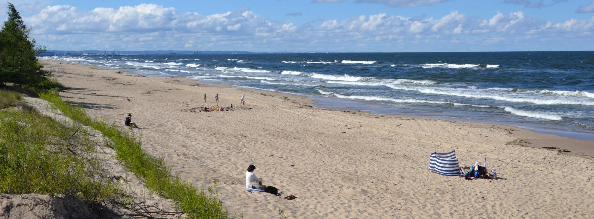 Najpiękniejsza plaża na Wyspie Sobieszewskiej znajduje się w Górkach Wschodnich