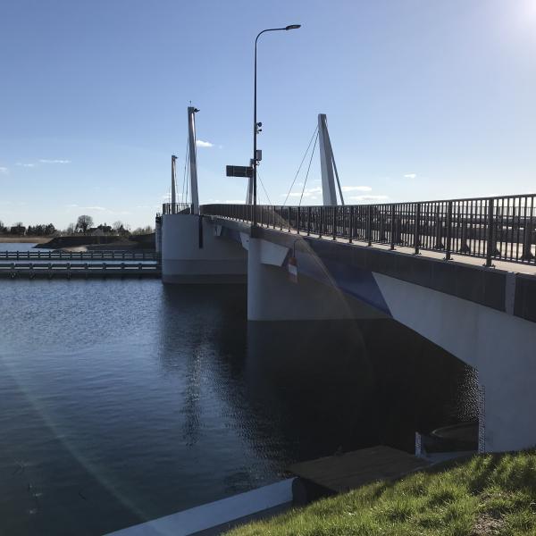 Nowy most Sobieszewski wybudowany w 2018 roku