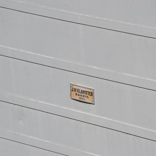 Wrota śluzy Przegalina powstały w stoczni J.W. Klawitter w Gdańsku w 1894 roku